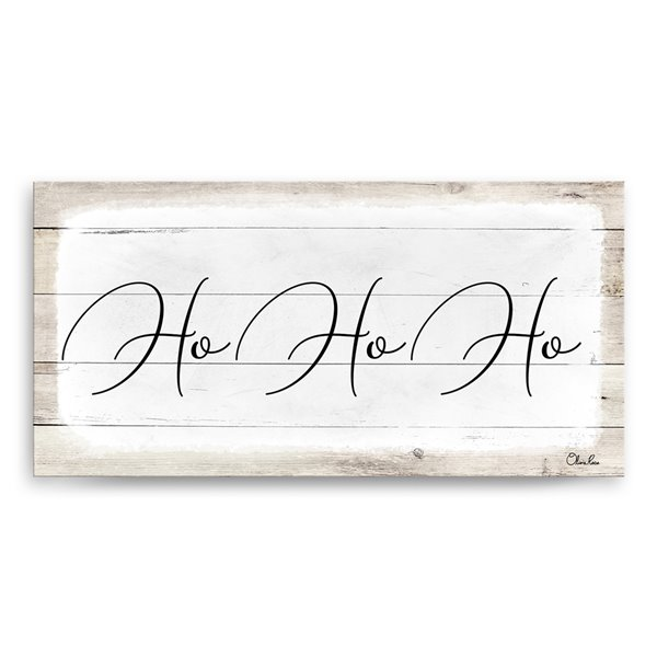 Ready2HangArt 'Ho-Ho-Ho' Holiday Canvas Wall Art - 12-in x 24-in