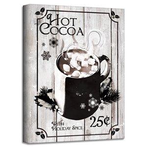 Décroation murale 'Hot Cocoa' de Ready2HangArt, 16 po x 12 po