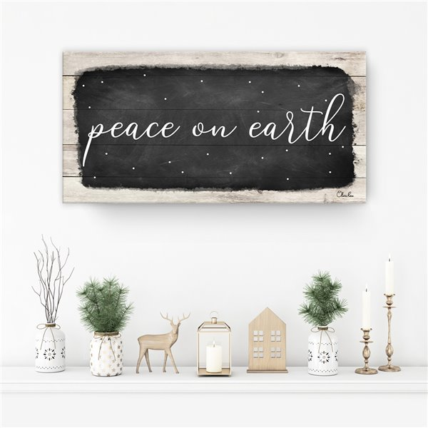 Ready2HangArt 'Peace on Earth I' Canvas Wall Art - 12-in x 24-in