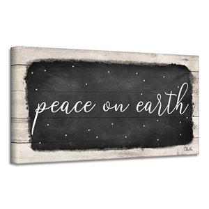 Ready2HangArt 'Peace on Earth I' Canvas Wall Art - 12-in x 24-in