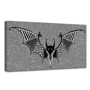 Ready2HangArt 'Glamoween Bat II' Halloween Wall Art - 16-in x 16-in