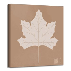 Ready2HangArt 'Minimal Leaf I' Fall Harvest Wall Art - 12-in