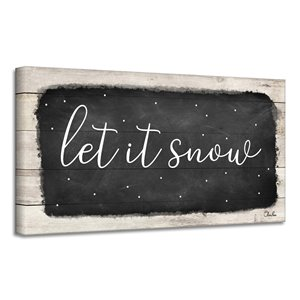 Ready2HangArt 'Let it Snow' Canvas Wall Art - 8-in x 16-in