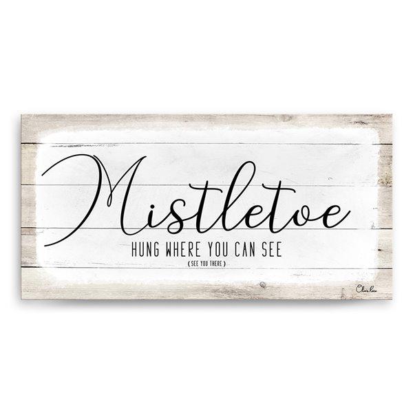 Ready2HangArt 'Mistletoe' Holiday Canvas Wall Art - 12-in x 24-in