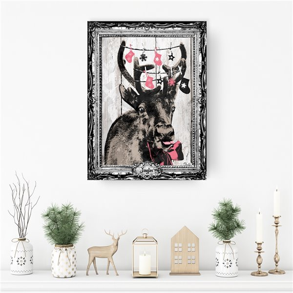 Ready2HangArt 'Jingles' Holiday Canvas Wall Art - 30-in x 20-in