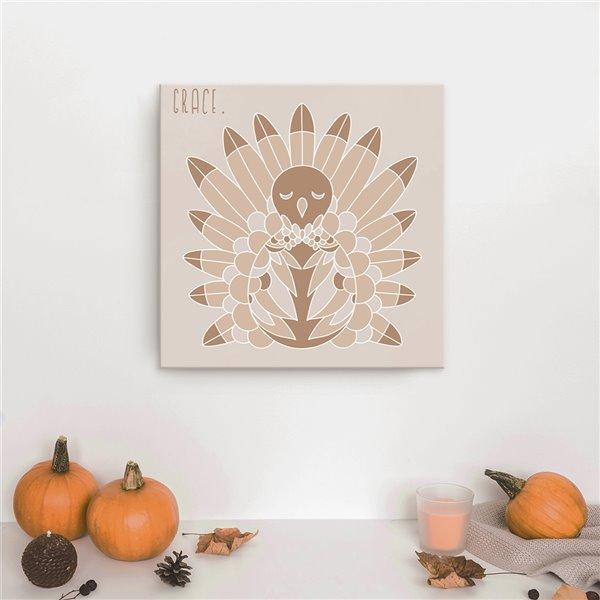 Ready2HangArt 'Minimal Turkey I' Fall Havest Wall Art - 30-in