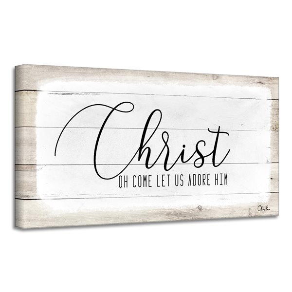 Ready2HangArt 'Christ' Holiday Canvas Wall Art - 18-in x 36-in