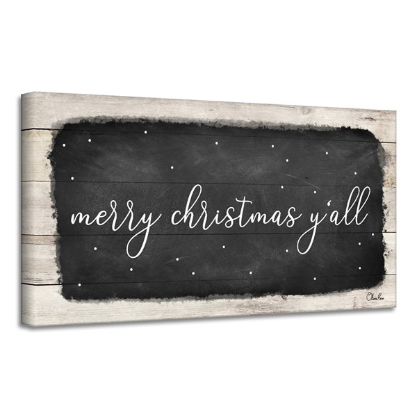 Ready2HangArt 'Merry Christmas Y'all' Canvas Wall Art - 12-in x 24-in