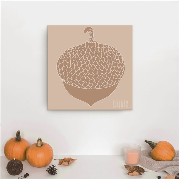Ready2HangArt 'Minimal Acorn' Fall Harvest Wall Art - 20-in