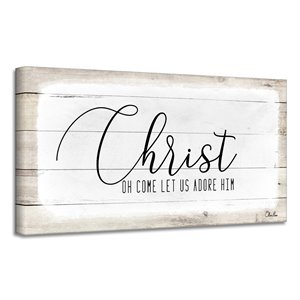 Ready2HangArt 'Christ' Holiday Canvas Wall Art - 12-in x 24-in