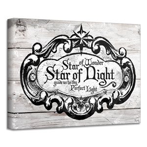 Ready2HangArt 'Star of Wonder' Holiday Canvas Wall Art - 20-in x 30-in