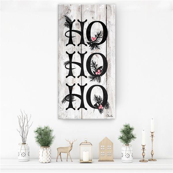 Décroation murale 'Ho Ho Ho' de Ready2HangArt, 16 po x 8 po