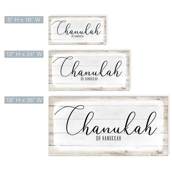 Ready2HangArt 'Chanukah' Hanukkah Canvas Wall Art