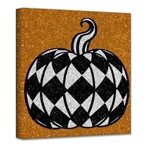 Ready2HangArt 'Glamoween Pumpkin III' Halloween Wall Art - 12-in x 12-in