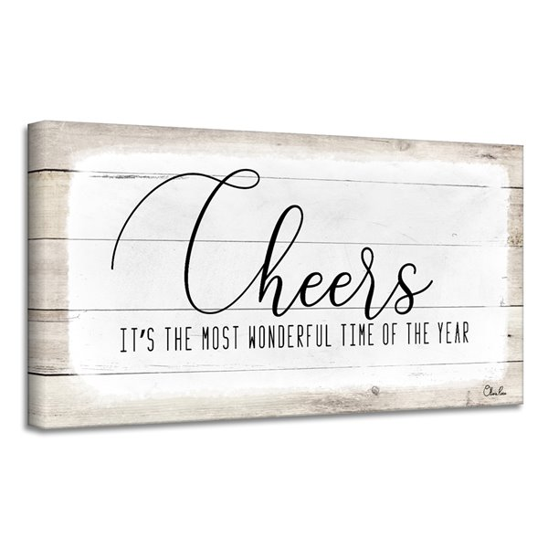 Ready2HangArt 'Cheers'  décoration murale , 12 po x 24 po
