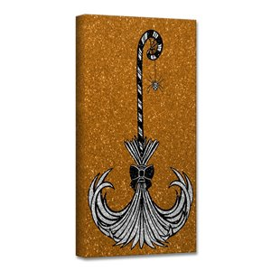 Ready2HangArt 'Glam Broomstick II' Halloween Wall Art - 12-in x 12-in