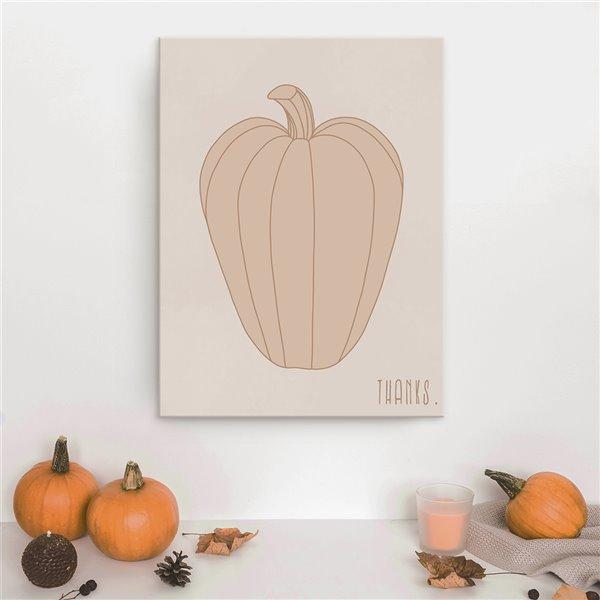 Ready2HangArt 'Minimal Pumpkin I' Fall Harvest Wall Art - 40-in
