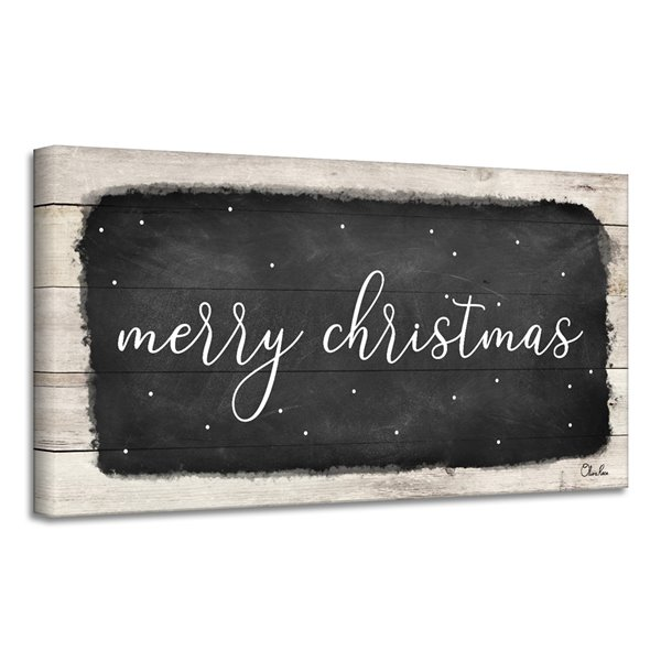 Ready2HangArt 'Merry Christmas I' Canvas Wall Art - 8-in x 26-in