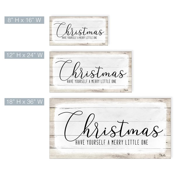 Ready2HangArt 'Merry Christmas II'  décoration murale , 12 po x 24 po