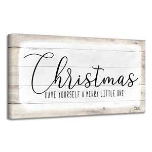 Ready2HangArt 'Merry Christmas II' Holiday Canvas Wall Art - 12-in x 24-in