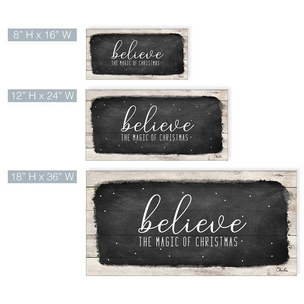Ready2HangArt 'Believe I' décoration murale , 18 po x 36 po
