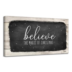 Ready2HangArt 'Believe I' Canvas Wall Art - 18-in x 36-in