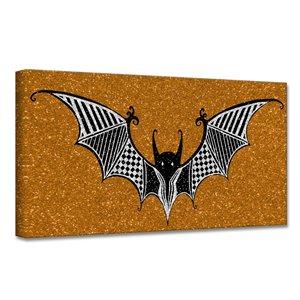 Ready2HangArt 'Glamoween Bat I' décoration murale, 16 po x 16 po