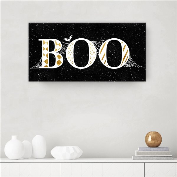 Ready2HangArt 'Boo Glam' Halloween Wall Art - 16-in x 16-in