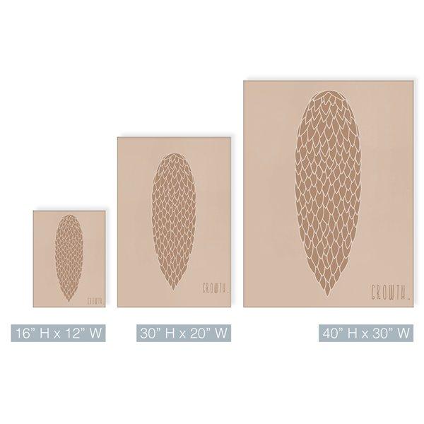 Ready2HangArt 'Minimal Pinecone II' Fall Harvest Wall Art - 30-in