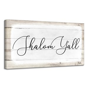 Ready2HangArt 'Shalom Y'all' Hanukkah Canvas Wall Art