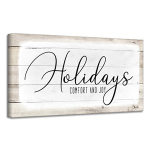 Ready2HangArt 'Holidays' Christmas Canvas Wall Art - 8-in x 16-in