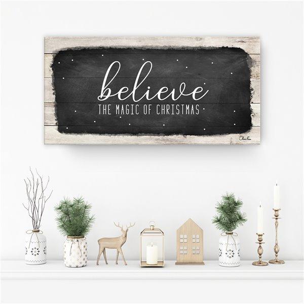 Ready2HangArt 'Believe I' décoration murale , 12 po x 24 po