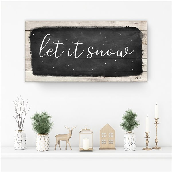 Ready2HangArt 'Let it Snow' Canvas Wall Art - 12-in x 24-in