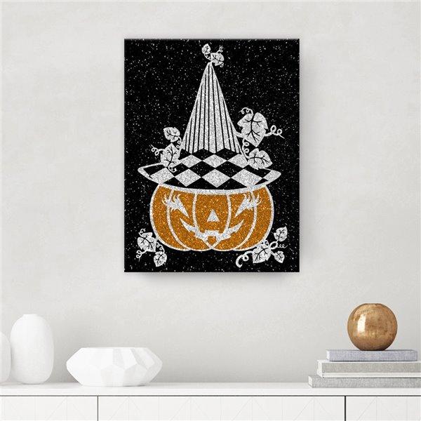 Ready2HangArt 'Glamoween Pumpkin V' Halloween Wall Art - 12-in x 12-in