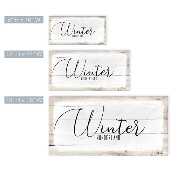 Ready2HangArt 'Winter Wonderland' Holiday Canvas Wall Art - 8-in x 16-in