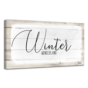 Ready2HangArt 'Winter Wonderland' Holiday Canvas Wall Art - 8-in x 16-in