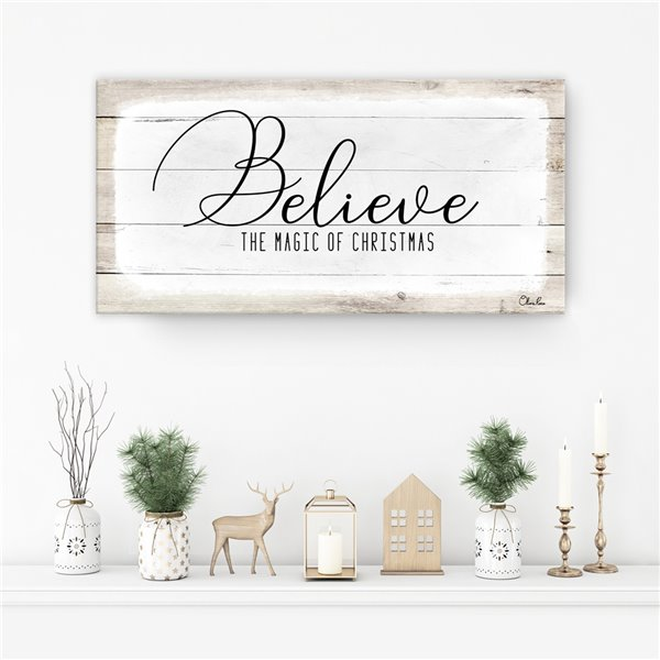Ready2HangArt 'Believe II' Holiday Canvas Wall Art - 12-in x 24-in