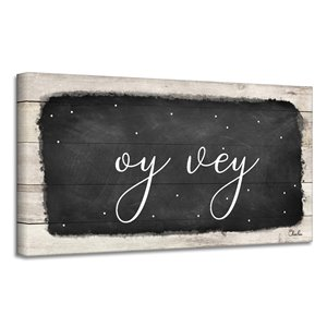 Ready2HangArt 'Oy Vey I' Hanukkah Canvas Wall Art
