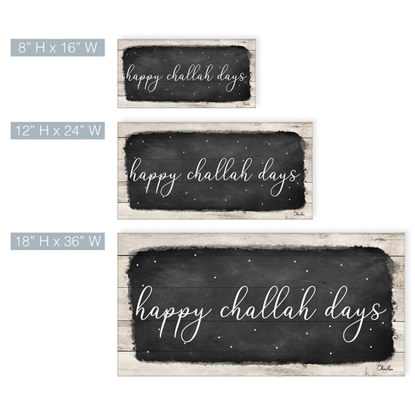 Ready2HangArt 'Happy Challah Days' Hanukkah décoration murale