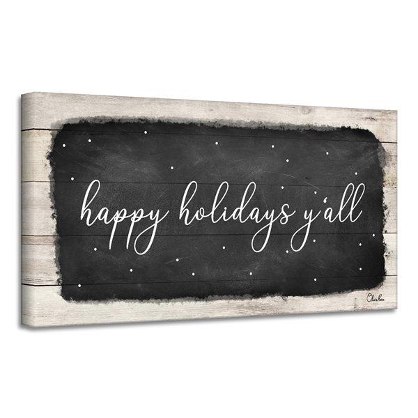 Ready2HangArt 'Happy Holidays Y'all' Canvas Wall Art - 12-in x 24-in