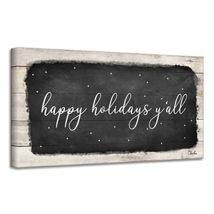 Ready2HangArt 'Happy Holidays Y'all' Canvas Wall Art - 12-in x 24-in