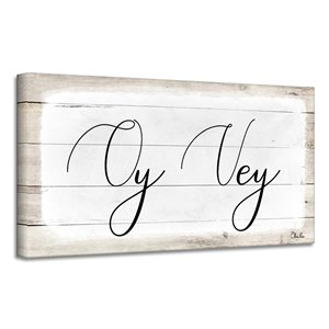 Ready2HangArt 'Oy Vey II' Hanukkah Canvas Wall Art
