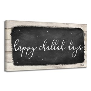 Ready2HangArt 'Happy Challah Days' Hanukkah Canvas Wall Art