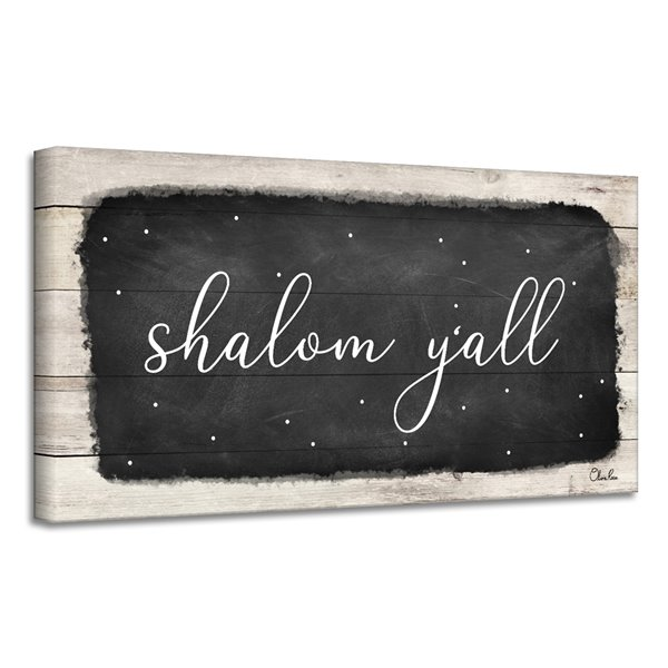 Ready2HangArt 'Shalom Y'all' Hanukkah Canvas Wall Art