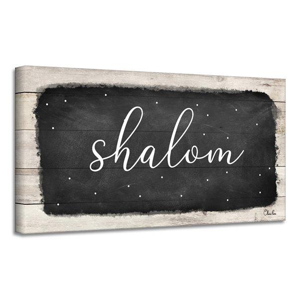 Ready2HangArt 'Shalom I' Hanukkah Canvas Wall Art