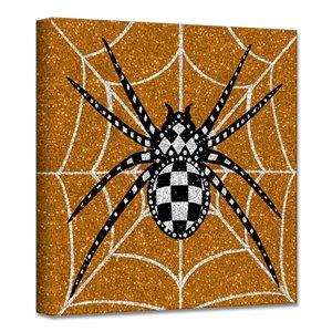 Ready2HangArt 'Glamoween Spider I' décoration murale, 12 po x 12 po