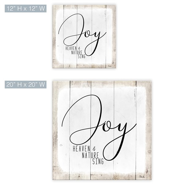 Ready2HangArt 'Joy' Holiday Canvas Wall Art - 12-in x 12-in