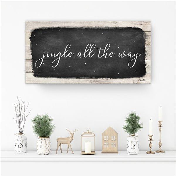 Ready2HangArt 'Jingle All the Way' Canvas Wall Art - 8-in x 16-in
