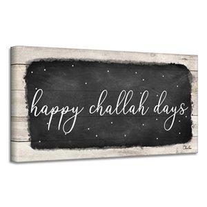 Ready2HangArt 'Happy Challah Days' Hanukkah Canvas Wall Art