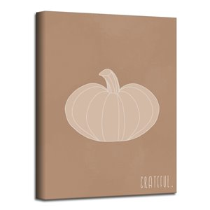 Ready2HangArt 'Minimal Pumpkin III' Fall Harvest Wall Art - 40-in